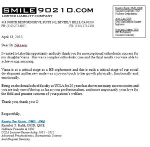 Image of dentist testimonials